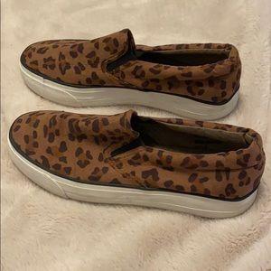 Restricted Cheetah Slip-on Sneakers